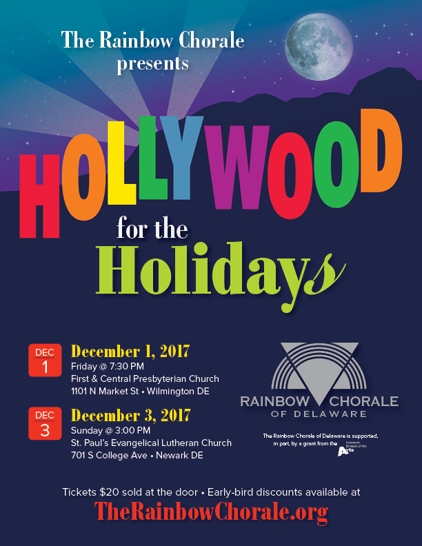 Hollywood for the Holidays flyer