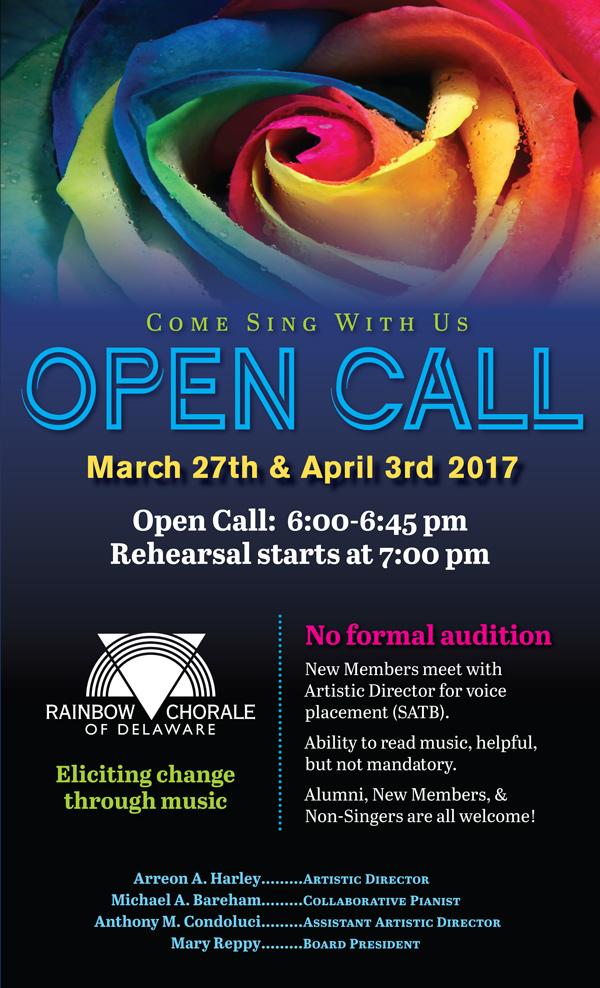 Open Call flyer
