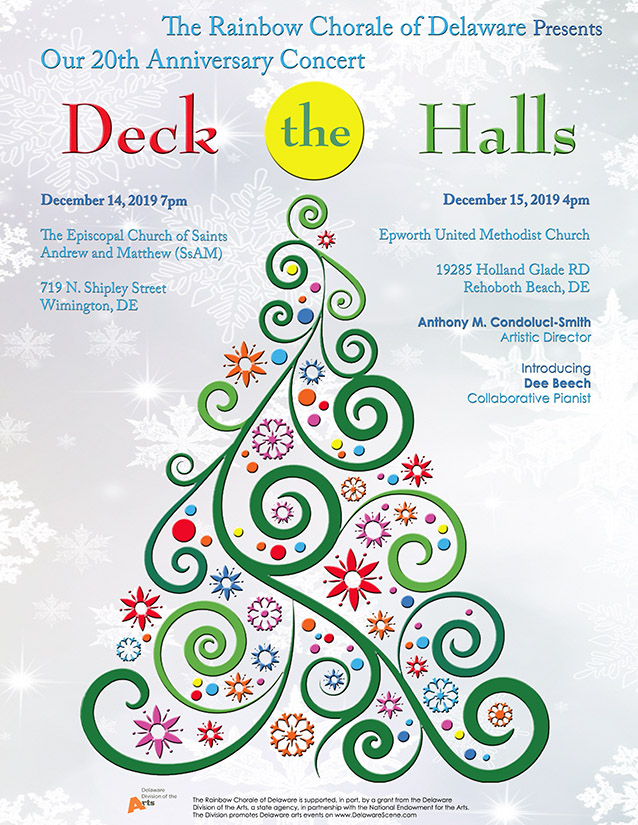 Deck the Halls Dec 2019 concert poster